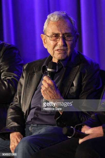 Producer George Shapiro speaks onstage at Reel to Reel If You're Not in the Obit Eat Breakfast at The GRAMMY Museum on January 18 2018 in Los Angeles...