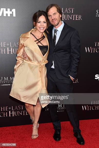 Producer Georgia Irwin and director Breck Eisner attend the New York premiere of The Last Witch Hunter at AMC Loews Lincoln Square on October 13 2015...