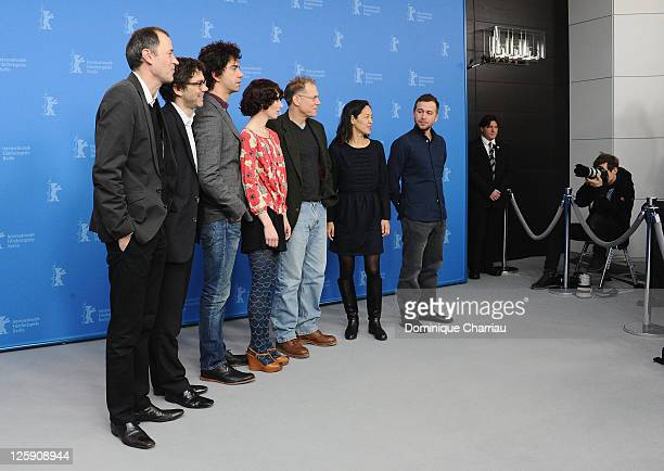 Producer Gerhard Meixner producer Roman Paul actor Hamish Linklater director and actress Miranda July actor David Warshofsky producer Gina Kwon and...