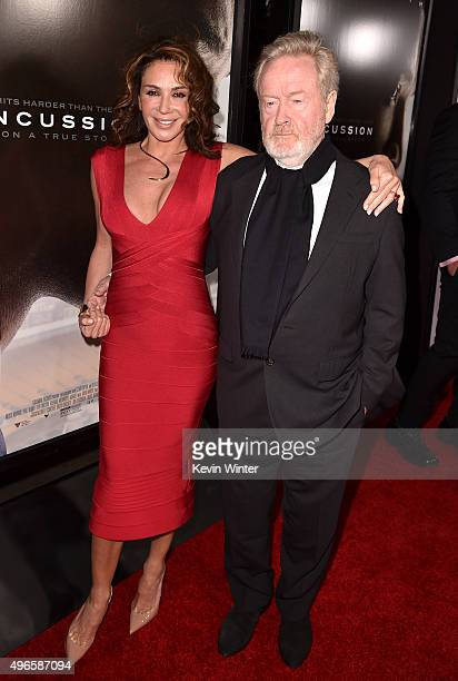 """Producer Giannina Facio and Producer Ridley Scott attends the Centerpiece Gala Premiere of Columbia Pictures' """"Concussion"""" during AFI FEST 2015..."""