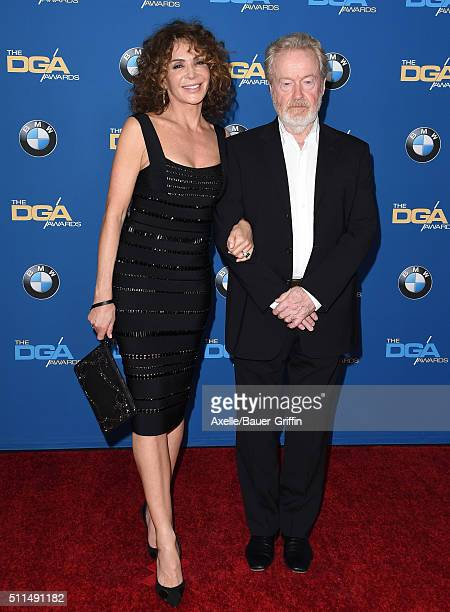 Producer Giannina Facio-Scott and director Ridley Scott arrive at the 68th Annual Directors Guild of America Awards at the Hyatt Regency Century...