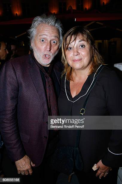 Producer Gilbert Rozon and actress Michele Bernier attend the 'Tout ce que vous voulez' Theater Play at Theatre Edouard VII on September 19 2016 in...
