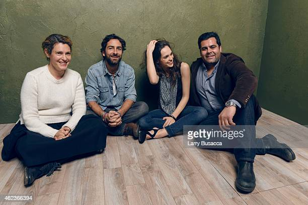 Producer Ginevra Elkann director Lamberto Sanfelice actress Sara Serraiocco and producer Damiano Ticconi of Cloro pose for a portrait at the Village...