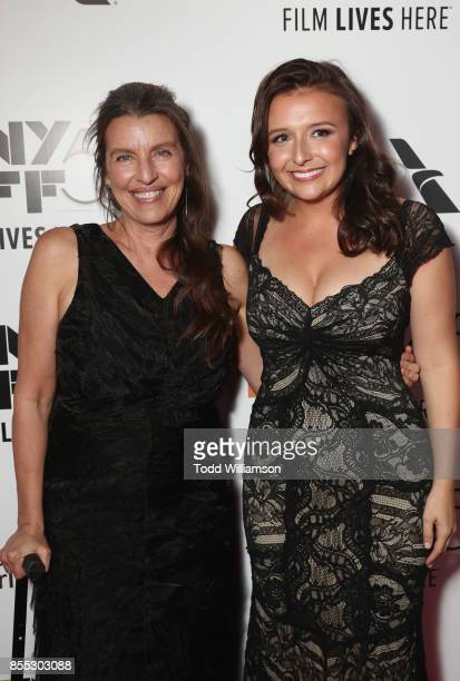 Producer Ginger Sledge and Actress Lee Harrington attends the Last Flag Flying NYFF World Premiere on September 28 2017 at Alice Tully Hall in New...