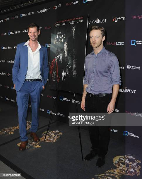 Producer Gordon Woloson and actor Michael Welch arrive for Screamfest Closing Night Final Wish held at the TCL Chinese Theatre 6 on October 17 2018...