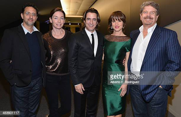 Producer Grant Heslov actress Julianne Nicholson actor Dermot Mulroney actress Juliette Lewis and director John Wells attend The Weinstein Company's...