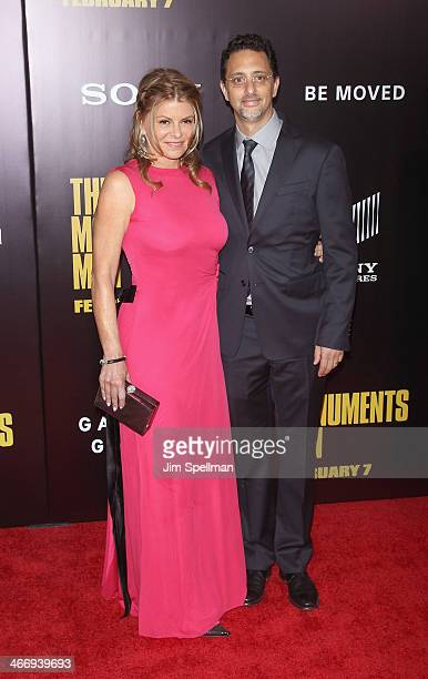 Producer Grant Heslov and wife Lysa Hayland attend the 'Monument Men' premiere at Ziegfeld Theater on February 4 2014 in New York City