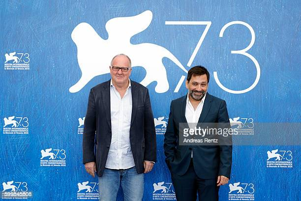 Producer Grant Hill and producer Sophokles Tasioulis attend the photocall of 'Voyage Of Time Life's Journey' during the 73rd Venice Film Festival at...
