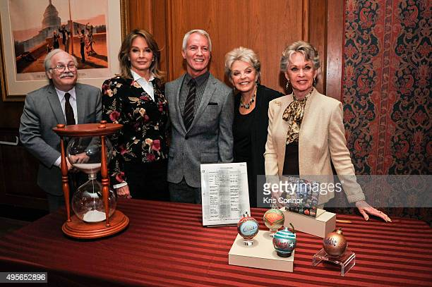 Producer Greg Meng actress Deidre Hall Susan Seaforth Hayes and Tippi Hedren with curator Dwight Blocker Bowers attend a donation ceremony where...