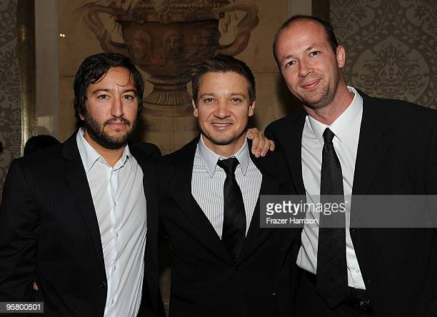 Producer Greg Shapiro actor Jeremy Renner and producer Nicolas Chartier attends the Tenth Annual AFI Awards 2009 reception held at Four Seasons...