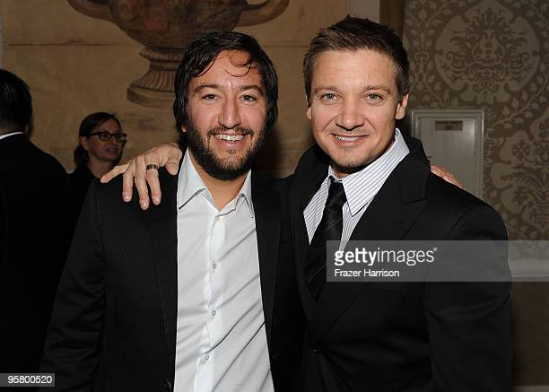 Producer Greg Shapiro and actor Jeremy Renner attends the Tenth Annual AFI Awards 2009 reception held at Four Seasons Beverly Hills on January 15...