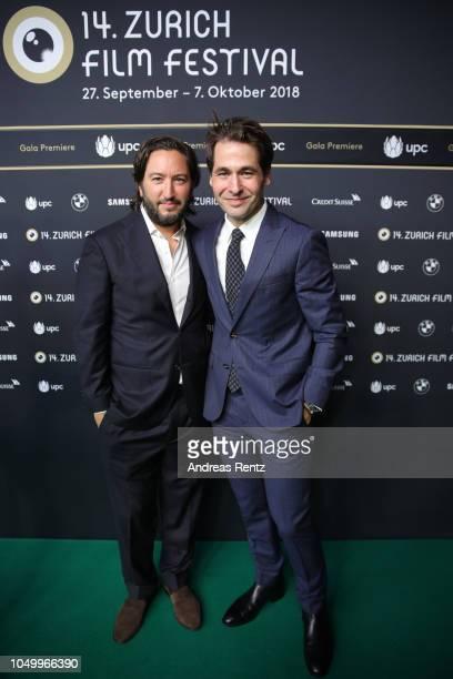 Producer Greg Shapiro and Zurich Film Festival director Karl Spoerri attend the 'Richard Says Goodbye' premiere during the 14th Zurich Film Festival...