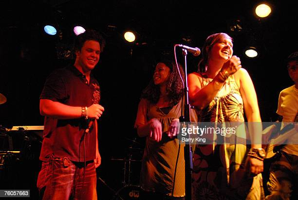 Producer Greg Whitman and Singer Tracy Nicole Chapman and singer Jaclyn Whitman of Cipes and The People perform in concert at the Viper Room on...