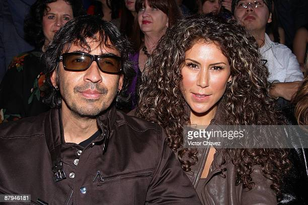TV producer Guillermo Del Bosque and his wife TV personality Vica Andrade <attends>> MercedesBenz Fashion Mexico Autumn/Winter 2009 at Antara Polanco...