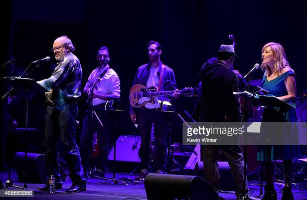 Producer Hal Willner and actress Chloe Webb perform osntage during The David Lynch Foundation's DLF Live Celebration of the 60th Anniversary of Allen...