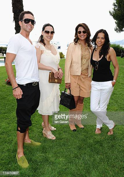 Producer Hamza Talhouni, Orna Gusinski, Hind El Achchabi and actress Michelle Rodriguez attend the Sea Shepherd lunch sponsored by producers Mohammed...