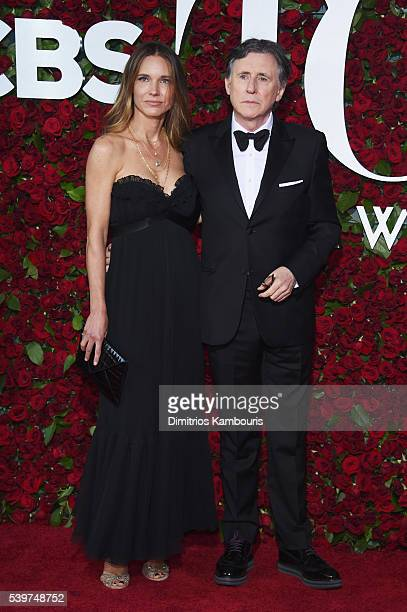 Producer Hannah Beth King actor Gabriel Byrne attend the 70th Annual Tony Awards at The Beacon Theatre on June 12, 2016 in New York City.