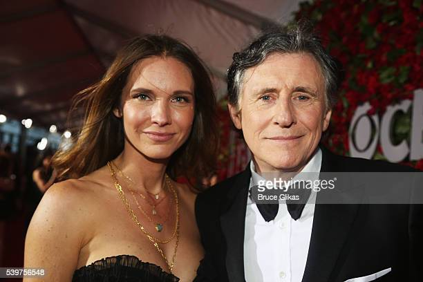 Producer Hannah Beth King and actor Gabriel Byrne attend the 70th Annual Tony Awards at The Beacon Theatre on June 12, 2016 in New York City.