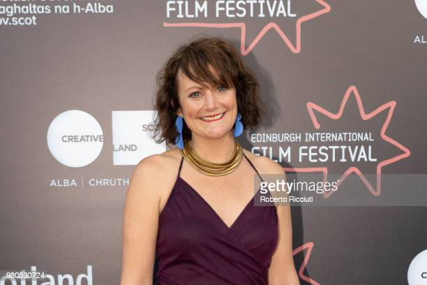 Producer Hannah Stevenson attends a photocall for the World Premiere of 'Eaten by Lions' during the 72nd Edinburgh International Film Festival at...