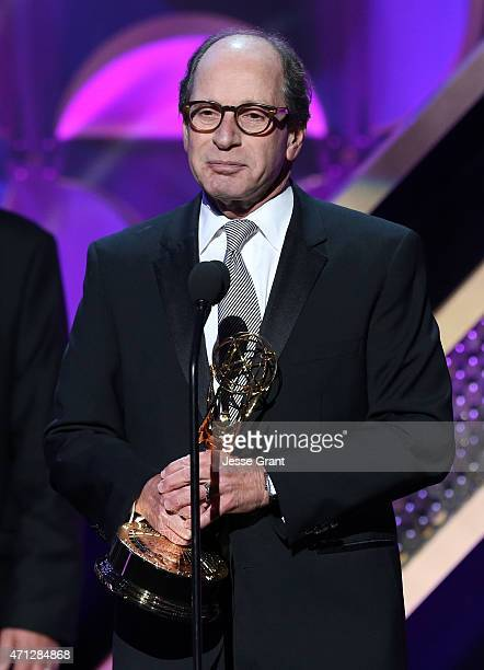 """Producer Harry Friedman accepts the award for Outstanding Game Show for """"Jeopardy"""" onstage during The 42nd Annual Daytime Emmy Awards at Warner Bros...."""