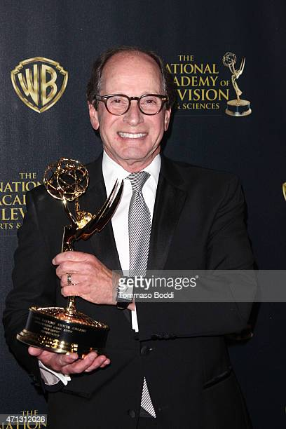 Producer Harry Friedman poses in the Press Room during the 42nd Annual Daytime Emmy Awards at Warner Bros. Studios on April 26, 2015 in Burbank,...