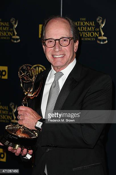 """Producer Harry Friedman, winner of the award for Outstanding Game Show for """"Jeopardy"""" poses in the press room during The 42nd Annual Daytime Emmy..."""