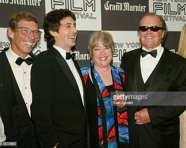Producer Harry Gittes director Alexander Payne Kathy Bates Jack Nicholson and Hope Davis at the 40th New York Film Festival opening night About...