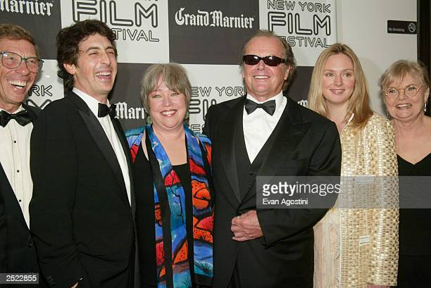 Producer Harry Gittes director Alexander Payne Kathy Bates Jack Nicholson Hope Davis and June Squibb at the 40th New York Film Festival opening night...