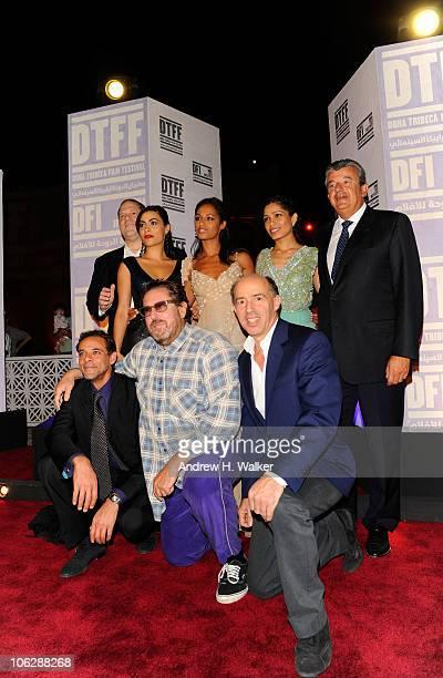 Producer Harvey Weinstein actress Yasmine Al Massri writer Rula Jebreal actress Freida Pinto Tarak Ben Ammar actor Alexander Siddig director Julian...