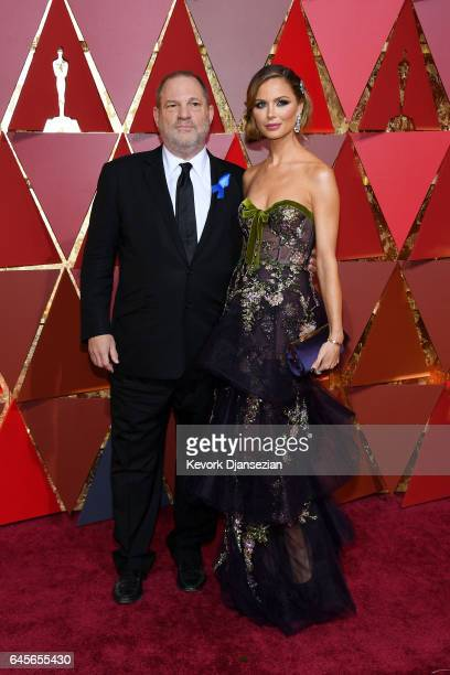 Producer Harvey Weinstein and designer Georgina Chapman attend the 89th Annual Academy Awards at Hollywood Highland Center on February 26 2017 in...