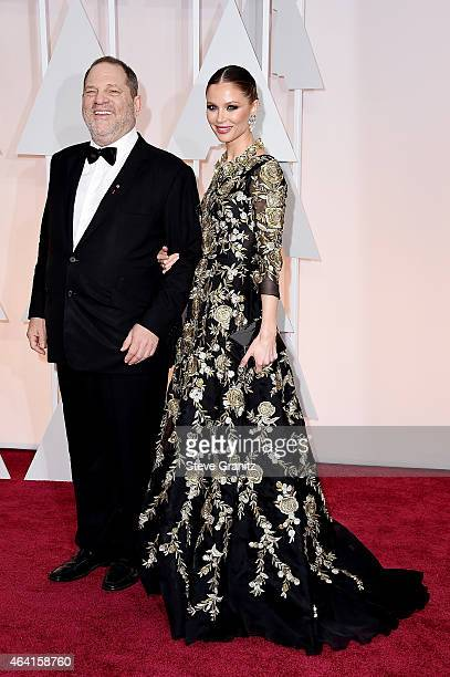 Producer Harvey Weinstein and designer Georgina Chapman attends the 87th Annual Academy Awards at Hollywood Highland Center on February 22 2015 in...
