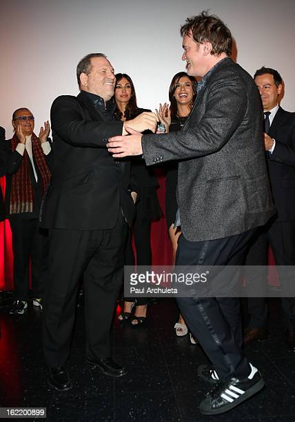 Producer Harvey Weinstein and Director Quentin Tarantino attend the 8th Annual Los Angeles Italia Film Fashion and Art Fest at the Mann Chinese 6 on...
