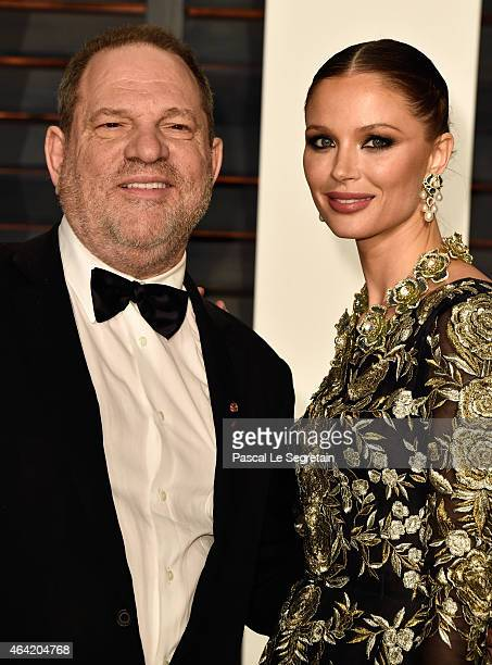 Producer Harvey Weinstein and fashion designer Georgina Chapman attend the 2015 Vanity Fair Oscar Party hosted by Graydon Carter at Wallis Annenberg...
