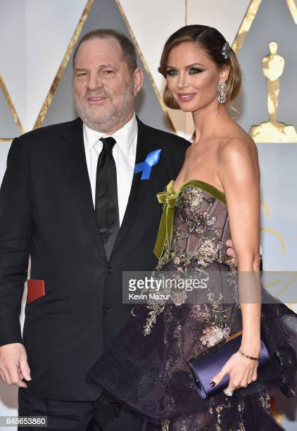 Producer Harvey Weinstein and fashion designer Georgina Chapman attend the 89th Annual Academy Awards at Hollywood Highland Center on February 26...