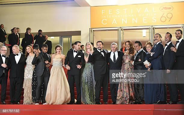 US producer Harvey Weinstein and his wife US actress Georgina Chapman US actor Usher and his wife Grace Miguel Cuban actress Ana de Armas Venezuelan...