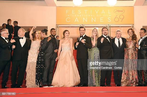 Producer Harvey Weinstein and his wife US actress Georgina Chapman, US actor Usher and his wife Grace Miguel, Cuban actress Ana de Armas, Venezuelan...