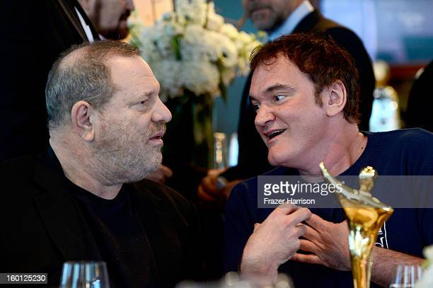 Producer Harvey Weinstein and Quentin Tarantino attend the Australian Academy of Cinema and Television Arts' 2nd AACTA International Awards at Soho...