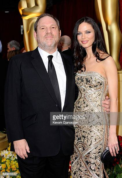 Producer Harvey Weinstein and wife Georgina Chapman arrives at the 81st Annual Academy Awards held at Kodak Theatre on February 22 2009 in Los...