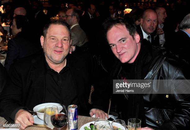 Producer Harvey Weinstein and Writer Producer Director Quentin Tarantino attend the 33rd annual Variety Home Entertainment Hall of Fame on December...