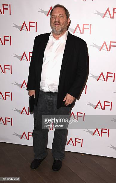 Producer Harvey Weinstein attends the 15th Annual AFI Awards at Four Seasons Hotel Los Angeles at Beverly Hills on January 9, 2015 in Beverly Hills,...