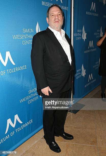 Producer Harvey Weinstein attends the Simon Wiesenthal Center 2015 National Tribute Dinner at The Beverly Hilton Hotel on March 24 2015 in Beverly...