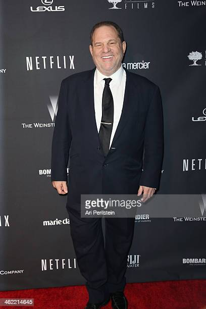 Producer Harvey Weinstein attends The Weinstein Company Netflix's 2014 Golden Globes After Party presented by Bombardier FIJI Water Lexus Laura...