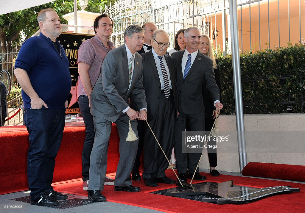 Ennio Morricone Honored With Star On The Hollywood Walk Of Fame : News Photo