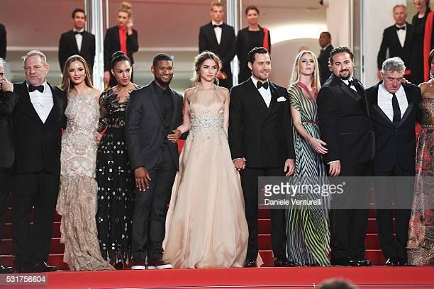 Producer Harvey Weinstein, Georgina Chapman, Grace Miguel, actor Usher, actor Edgar Ramirez, Producer Claudine Jakubowicz, director Jonathan...