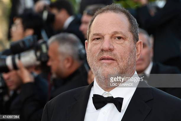 US producer Harvey Weinstein poses as he arrives for the screening of the film 'The Little Prince' at the 68th Cannes Film Festival in Cannes...