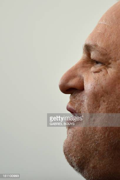 US producer Harvey Weinstein poses during the photocall of The Master during the 69th Venice Film Festival on September 1 2012 at Venice Lido The...