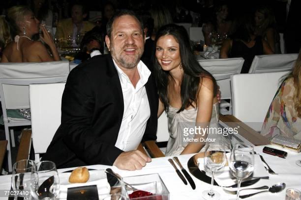 Producer Harvey Weinstein with girlfriend designer Georgina Chapman attend for the De Grisogono party guestedat the Eden Roc hotel by Mr Fawaz...