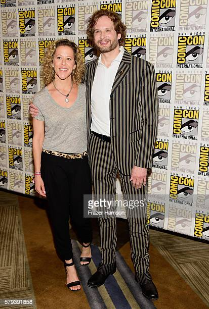 Producer Heather Kadin and Writer Bryan Fuller attends the 'Star Trek 50' press line during ComicCon International on July 23 2016 in San Diego...