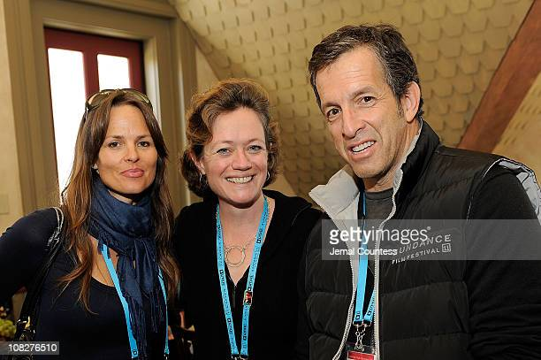 Producer Heather Rae director Cara Mertes and designer Kenneth Cole attend the Board Brunch/Director's Circle at Zoom Restaurant during the 2011...