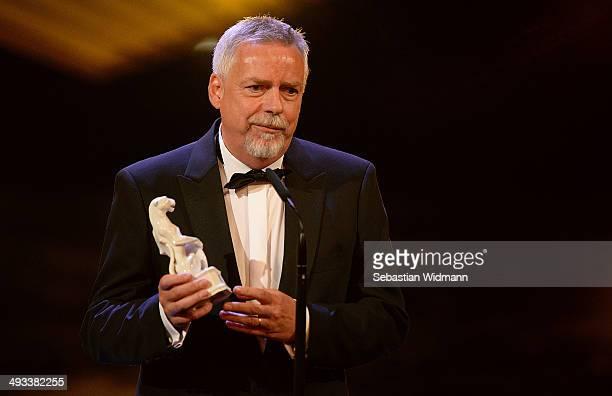 Producer Hilmer Rolff receives an award for his TV Show 'Von Spreewaldgurken bis FKK Die DDR privat' during the taping of the 'Bayerischer...